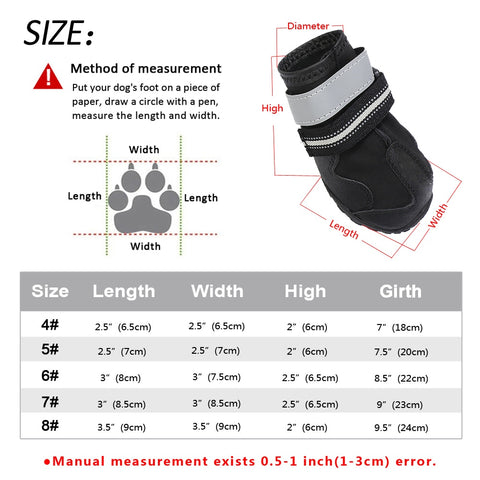 Image of Dog Boots Footwear Rain Wear Non-Slip Anti Skid Pet Shoes