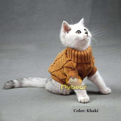 Image of Cat Sweater Sphinx Cat Coat Spagetti Warm Autumn Winter