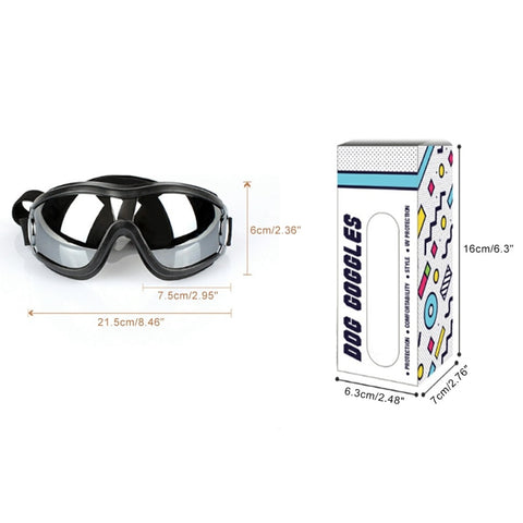 Image of Dog Sunglasses UV Protection Windproof Goggles Pet Eye Wear