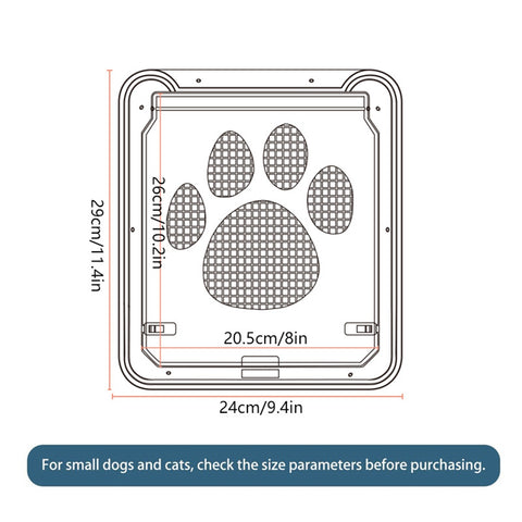 Pet Screen Door Dog Footprint Pattern Pet Cat Door Window Screen Doggie Flap Safe