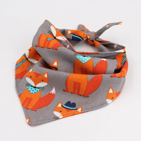 Image of Dog Bandana Reversible Bandana Tie on Bandana Dog Scarf