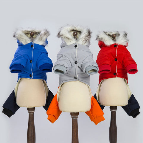 Image of Windbreaker Style Pet Dogs Four Legs Cotton Winter Coat