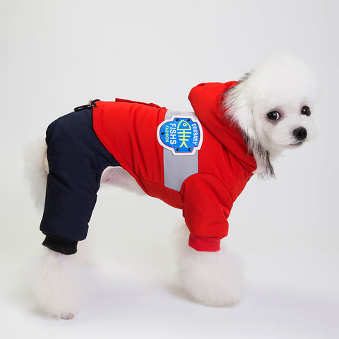 Windbreaker Style Pet Dogs Four Legs Cotton Winter Coat