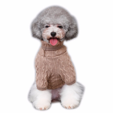 Image of Dog Clothes for Dogs Cat Knit Sweater Kitten Jacket for Dogs Puppy Classic Sweatshirt Pet Coat