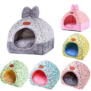 Multifunction Warm Cat House Cave Home Pet Bed Dog House Soft Puppy Dog Cushion Cat Bed