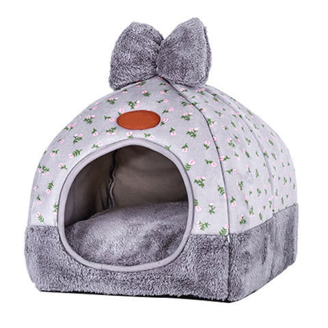 Image of Multifunction Warm Cat House Cave Home Pet Bed Dog House Soft Puppy Dog Cushion Cat Bed