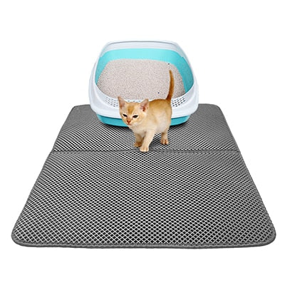 Image of EVA Double-Layer Cat Litter Trapper Mats with Waterproof Bottom Non-slip