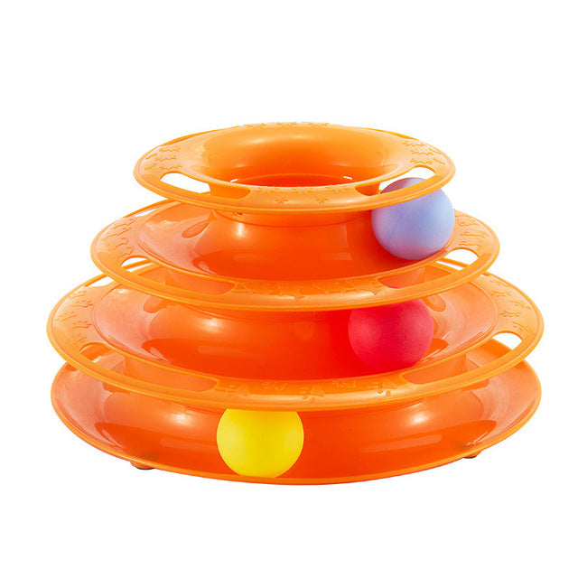 Cat Toy Ball Pet Toy Cat Toys Intelligence Triple Play Disc Three Tower Of Tracks Turntable Ball Pet Products