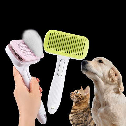 Image of Pet Comb for  Dogs Grooming Toll Automatic Hair Brush Remover Dog Cat Comb