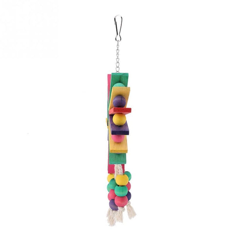 New Style Pet Parrot Toys Wooden Hanging Cage Toys