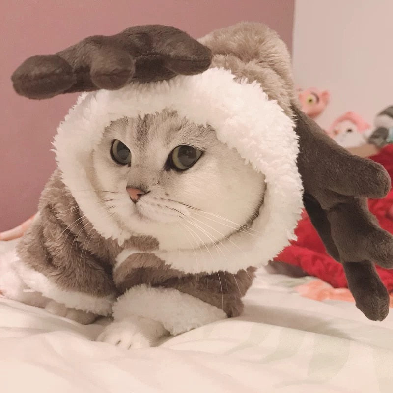 Winter Cat Clothes Warm Fleece Pet Costume For Small Cats Kitten Jumpsuits