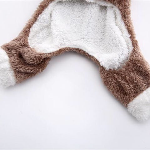 Image of Winter Cat Clothes Warm Fleece Pet Costume For Small Cats Kitten Jumpsuits