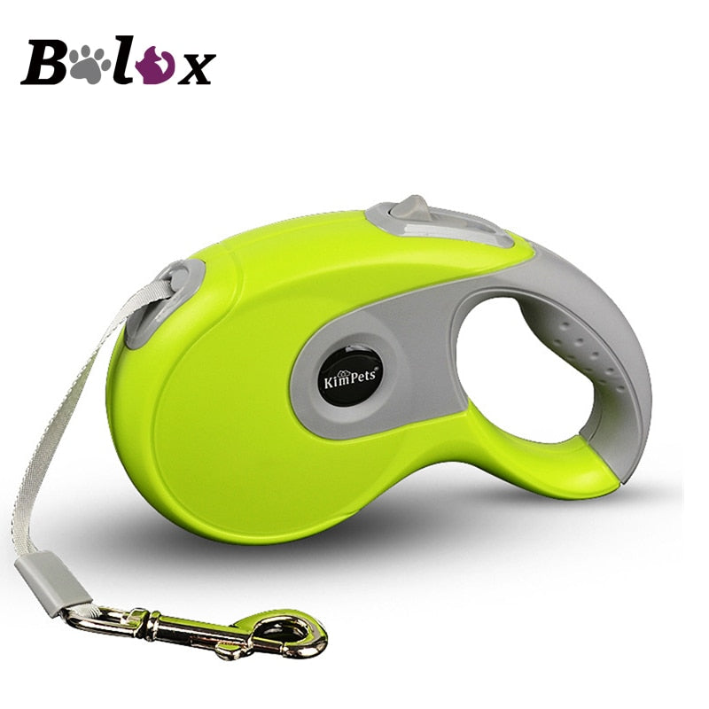 Durable Dog Leash Automatic Retractable Nylon Dog Leash Extending Puppy Walking Running Leads