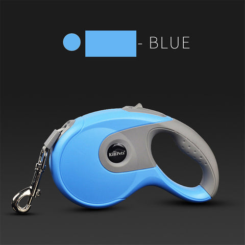 Image of Durable Dog Leash Automatic Retractable Nylon Dog Leash Extending Puppy Walking Running Leads