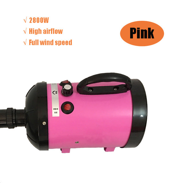 Adjustable 2800W Low Noise Pet Hair Dryer Dog Cat Grooming Heater Blower Dryers