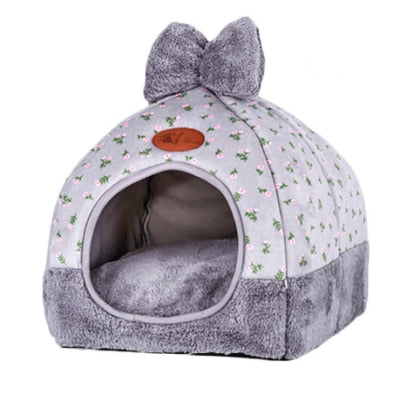 Image of Dog Bed & Sofa Warming Dog House Soft Dog Nest Winter Kennel For Puppy