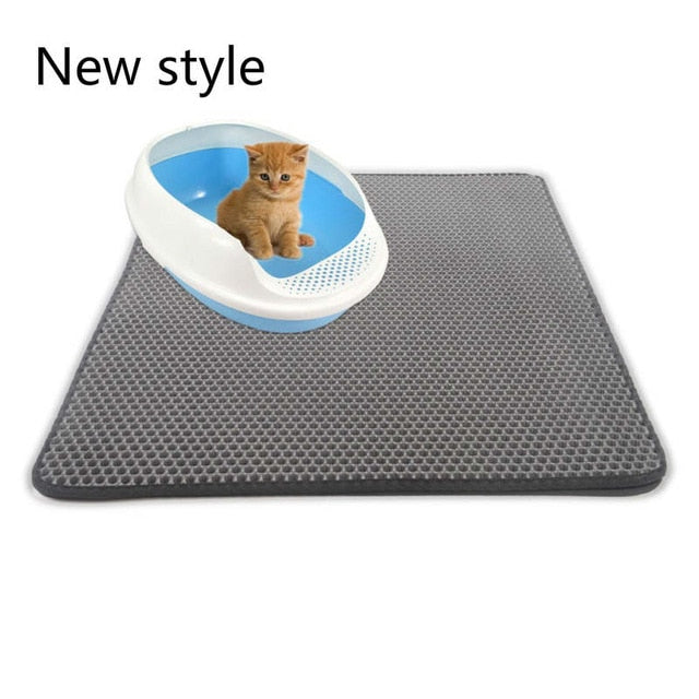 Pets Cats Litter Mat Bed House Floor Portable Double Layer EVA Leather Waterproof