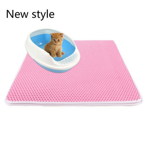 Image of Pets Cats Litter Mat Bed House Floor Portable Double Layer EVA Leather Waterproof