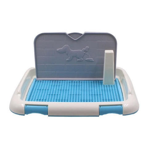 Mesh Pet Dog Toilet with Simulation Wall Portable Pet Potty Tray