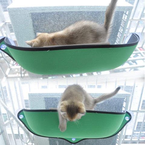 Image of Cat Hammock Bed Window Pod Lounger Suction Cups Warm Bed For Pet