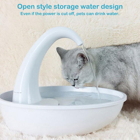 Image of Water Dispenser Cat Feeding Water Flowing Fountain Cat