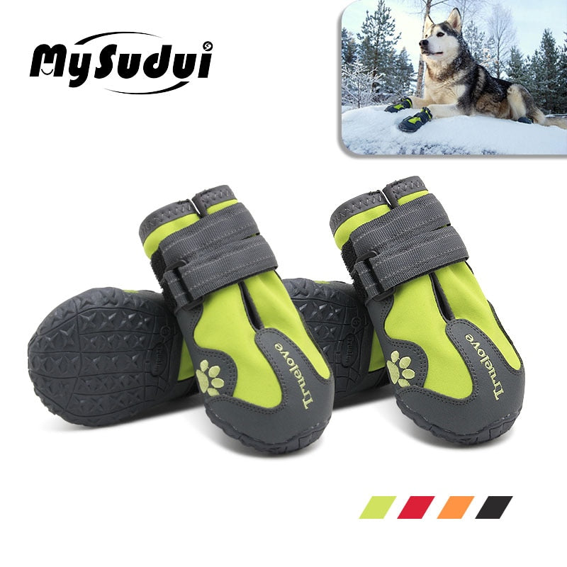 Waterproof Dog Shoes For Dogs Winter Summer Rain Snow Dog Boots Sneakers