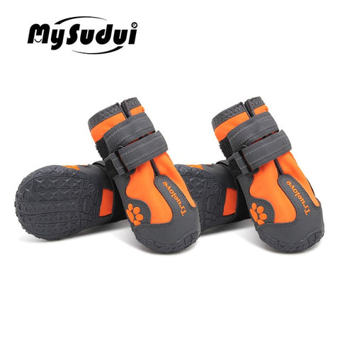 Image of Waterproof Dog Shoes For Dogs Winter Summer Rain Snow Dog Boots Sneakers