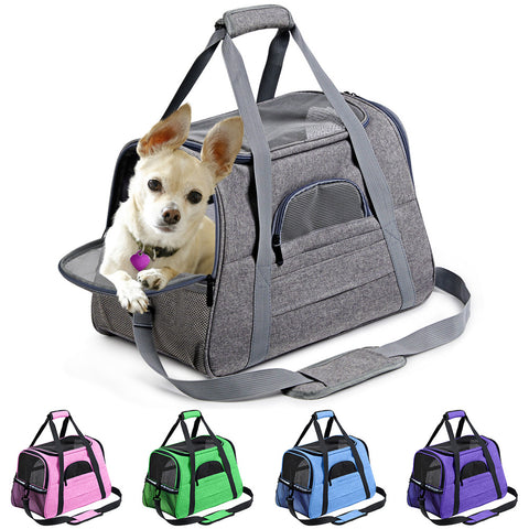 Image of Dog Carrier Portable Pet Backpack Messenger Cat Carrier Outgoing Small Dog Travel Bag