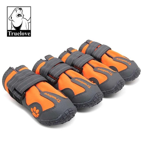 Image of Dog Shoes Waterproof Anti-Slip Rain Boots Warm Snow Reflective
