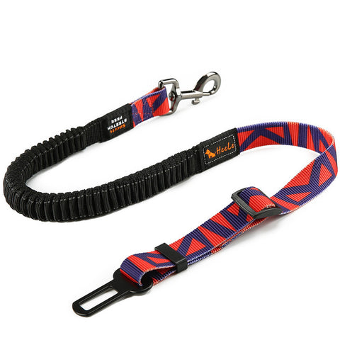 Image of Dog Car Seat Belt Fashion Adjustable Heavy Duty Pet Dog Safety Belt Elastic