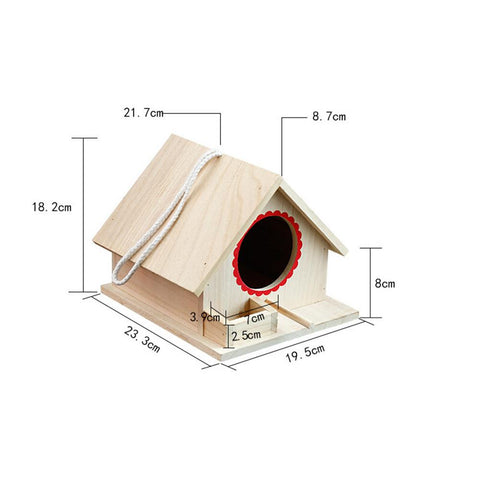 Wooden Birdhouse Small Outdoor Garden Parrot Bird Nest Wooden Bird House Bird Cage