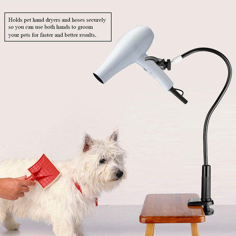 Image of 360 Degree Pet Dog Cat Grooming Hair Dryer Bracket  Clamp Clip Holder Pet