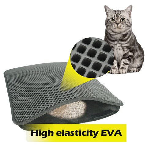 Waterproof Pet Cat Litter Mat EVA Double Layer Cat Litter Trapping Pet Litter