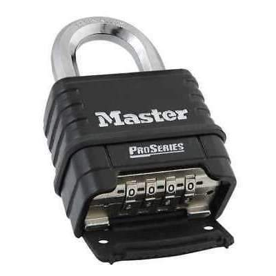 MASTER LOCK 1178D Combination Padlock, Bottom, 4 Dial, Black