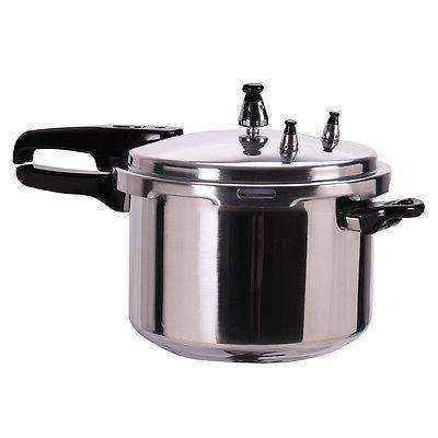 New 6-Quart Aluminum Pressure Cooker Fast Cooker Canner Pot Kitchen