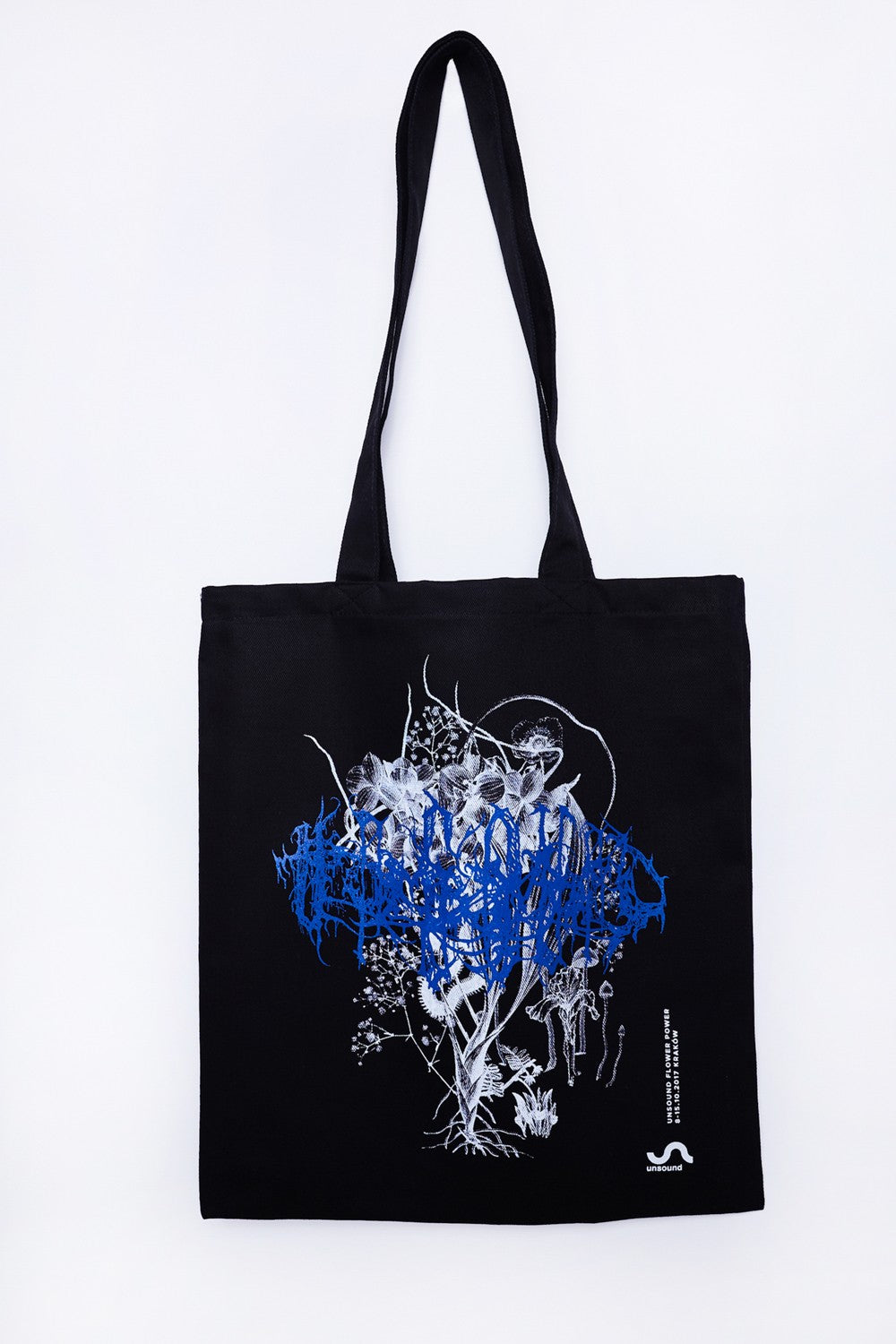 Unsound flower power tote bag - black or white