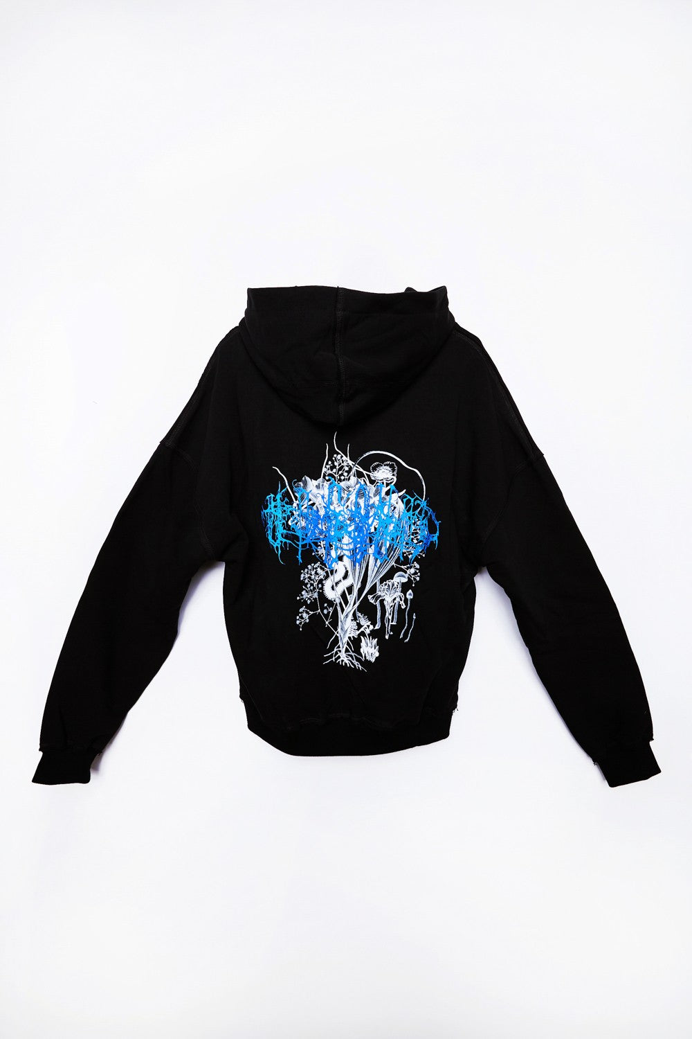 Oversized Unsound Hoodie Off Black - last items