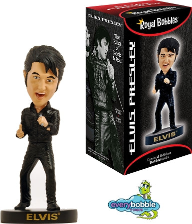 Elvis Bobblehead Black Leather - '68 Comeback Special