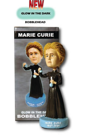 Marie Curie  (Glow in the dark) Bobble head