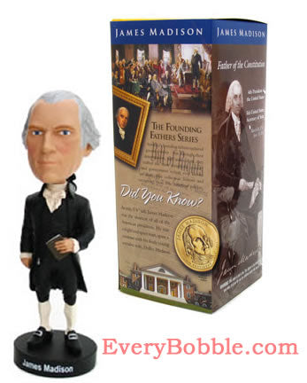 James Madison Bobblehead Doll