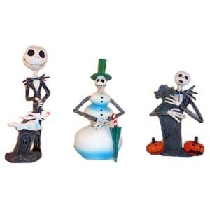 NECA THE NIGHTMARE BEFORE CHRISTMAS SET OF THREE