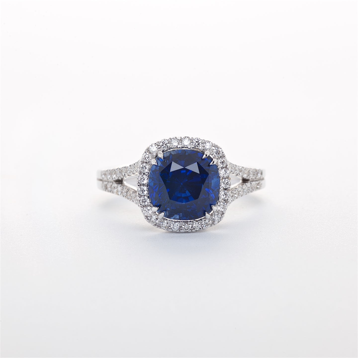 The Rebecca - GIA Certified Blue Sapphire and Diamond Ring