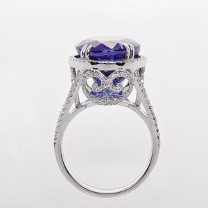 The Alyssa - Tanzanite and Diamond Ring