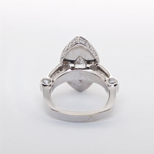 The Elmas - 18K Marquise Shaped Diamond Ring