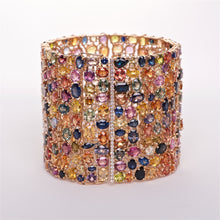 The Andrea - 18K Multi-colored Sapphire Bracelet
