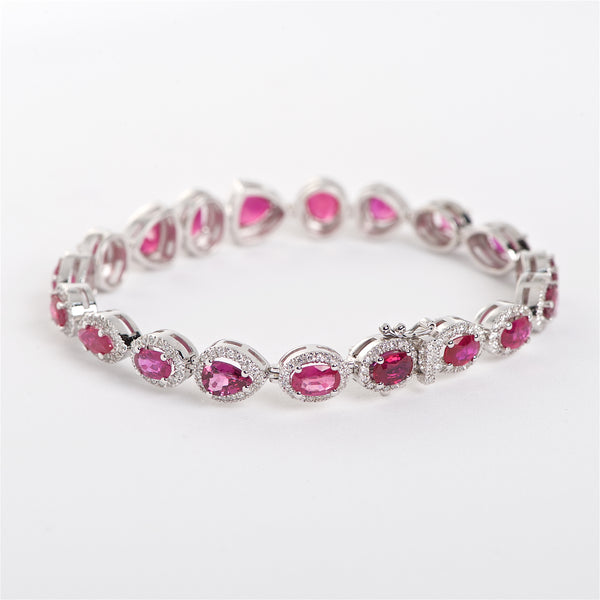 The Jane - 18K Ruby and Diamond Bracelet