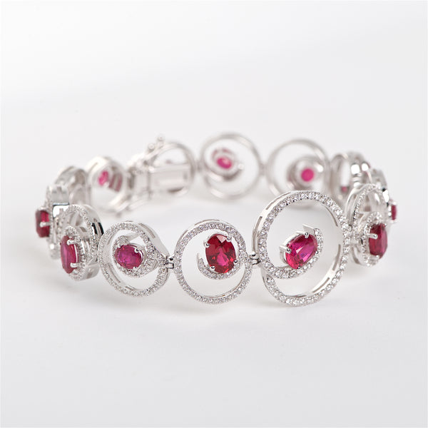 The Yasmin - 18K Ruby and Diamond Bracelet