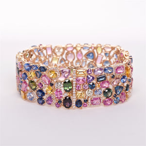 The Kate - 18K Multicolored Sapphire and Diamond Bracelet