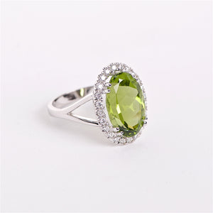 The Flora - Peridot and Diamond Ring