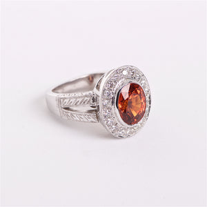 The Aslan - 18K Spessartite Garnet and Diamond Ring